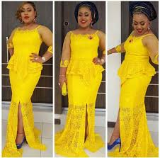 top ten beautiful yellow cord lace aso ebi styles to rock dabonke