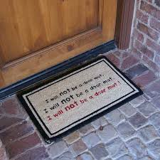 i will not be a door mat funny doormat