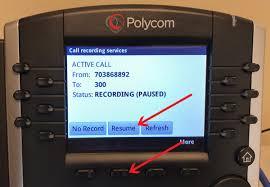 Pause Resume Pause Resume Recording Using Polycom Vvx Phone
