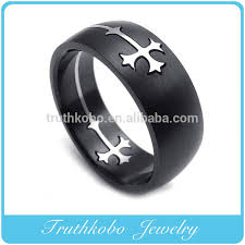 gothic rings men images Europe style titanium steel jewelry gold cross ring new design jpg