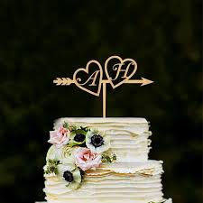 gold monogram cake toppers monogram wedding cake topper wood initials gold silver custom