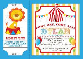 birthday invites cozy circus birthday invitations ideas new
