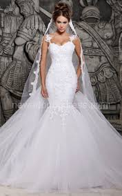fishtail wedding dress magnificent tulle mermaid lace wedding dress with wedding veil