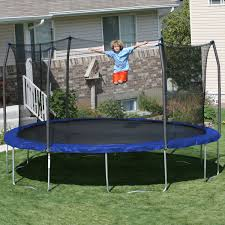 exterior cool skywalker trampoline ideas for your outdoor front
