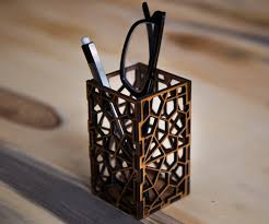 cool pen holders laser cut geometric pencil holder 3 steps with pictures