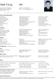 Sample Acting Resumes by Acting In Columbus Newsletter October 2009 Sample Resume