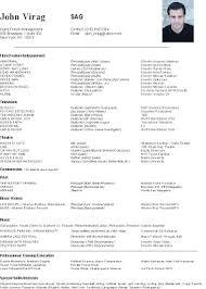 Sample Beginner Acting Resume by Acting In Columbus Newsletter October 2009 Sample Resume