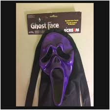 scream ghost face mask metallic purple mad about horror