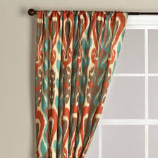 Coral And Turquoise Curtains Ikat Curtain 34 99 Colorful Ikat Fabric Choice From World