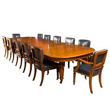 Dining Room Furniture Deals by Antique Victorian Oak Dining Table And 12 Chairs C 1870 For Sale