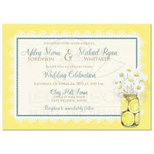 lace invitations shabby chic wedding invitation daisies lace denim lemons and