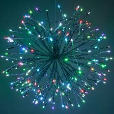 Lighted Branches Starburst Lighted Branches With Multicolor Led Twinkle Lights 1 Pc