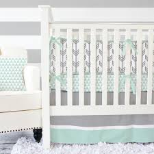 Boy Nursery Bedding Set by Mint U0026 Gray Arrow Modern Baby Bedding Baby Bedding Triangles
