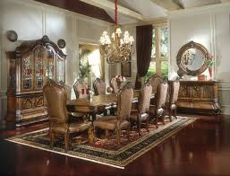 aico dining room michael amini tuscano traditional formal dining table set biscotti