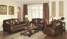 Genuine Leather Sofa And Loveseat Coaster Leather Sofa Sets Ebay