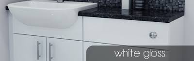 White Gloss Bathroom Furniture Bathcabz Bathroom Fitted Furniture