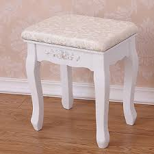 siege baroque vintage stool dressing table piano chair white decor padded makeup