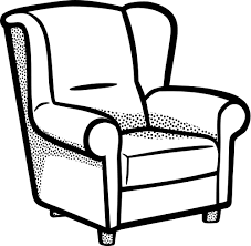Clipart Armchair Armchair Lineart Household Furniture Chair Chair 2