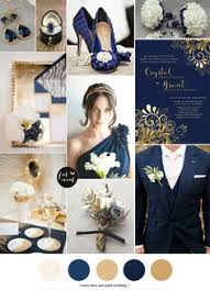 Navy blue champagne ivory and blush