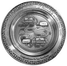pewter birth plates personalized engraved designer pewter plates