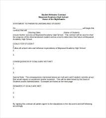 doc 585650 format for contract u2013 student behavior contract