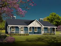 country house plans one story single story house plans with front porch home deco plans