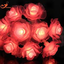 String Of Flower Lights by Rose Lights Flower Lighting Summer Light Pink Wedding String Lamp