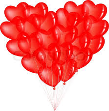heart shaped balloons bunch of heart shape balloons isolated on white stock