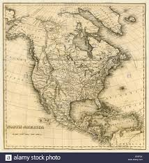 North America Map by North America Map 19th Century Engraving Stock Photo Royalty
