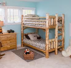 Rustic Log Bedroom Furniture - Log bunk beds