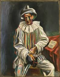 pablo picasso 1918 pierrot oil on canvas 92 7 73 cm museum of modern art new york