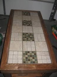 tile table top makeover tile a table top mosaics tile tables and craft