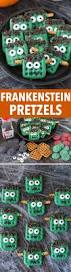 halloween pretzel frankenstein pretzels the first year
