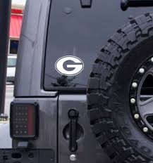green bay packers decal free shipping white vinyl decal college