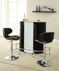 Home Bar Set by Home Bar Unit Modern Style Black White And Chrome Finish Metal