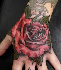 rose hand tattoo hand tat ideas pinterest rose hand