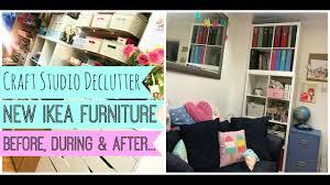 New Ikea Craft Studio Declutter New Ikea Furniture Before During
