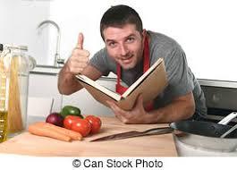 apprentissage en cuisine tablier lecture recette livre apprentissage photo de