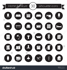 furniture icons set home interior decoration stock vector