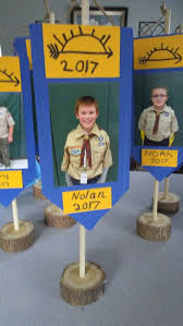 arrow of light decorations blue and gold table decoration for the arrow of light cub scouts