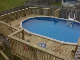 pool above ground pools with decks above ground pool in