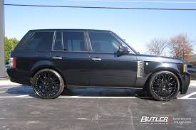 land rover chrome land rover range rover with 24in asanti af145 wheels exclusively