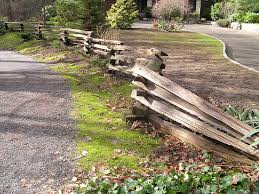 Types Of Fencing For Gardens - shows how the fence was installed following the trail is a