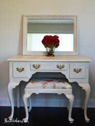Ethan Allen Student Desk Shabby Chic Ethan Allen Dressing Table Vanity Painted With Annie