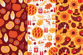 12 thanksgiving day patterns bonus by miu miu thehungryjpeg