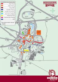 Map Of Mississippi State University by Msu Offers Gameday Info Parking Rules For 2016 Mhsaa