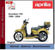 aprilia scarabeo 150 1999 2004 workshop service repair manual ebay
