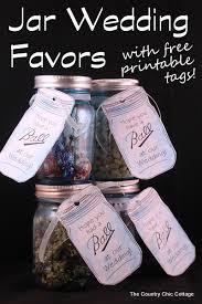 Mason Jar Party Favors Mason Jar Wedding Favors With Free Printable Tags The Country