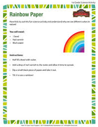 rainbow paper u2013 fun science activity for 1st grade