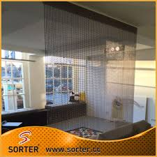 Chain Room Dividers - metal ball chain curtain room divider office cubicle curtains
